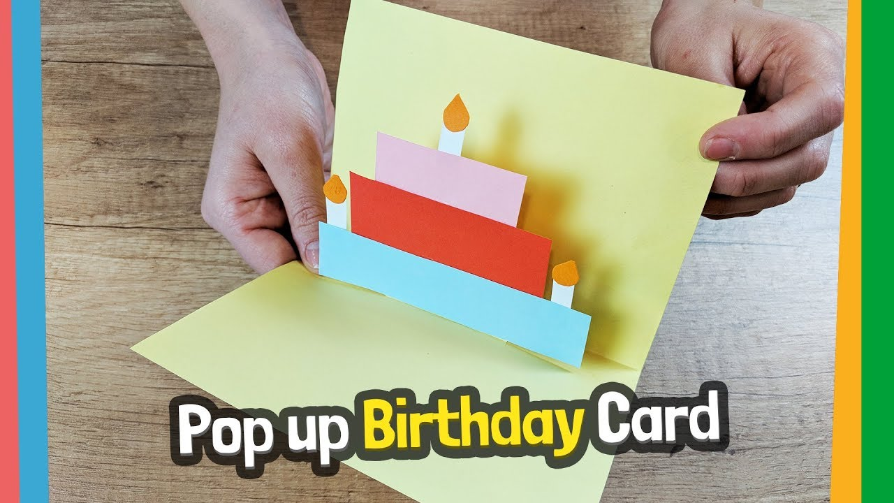 Pop Up Birthday Card Craft For Kids Easy Diy Youtube
