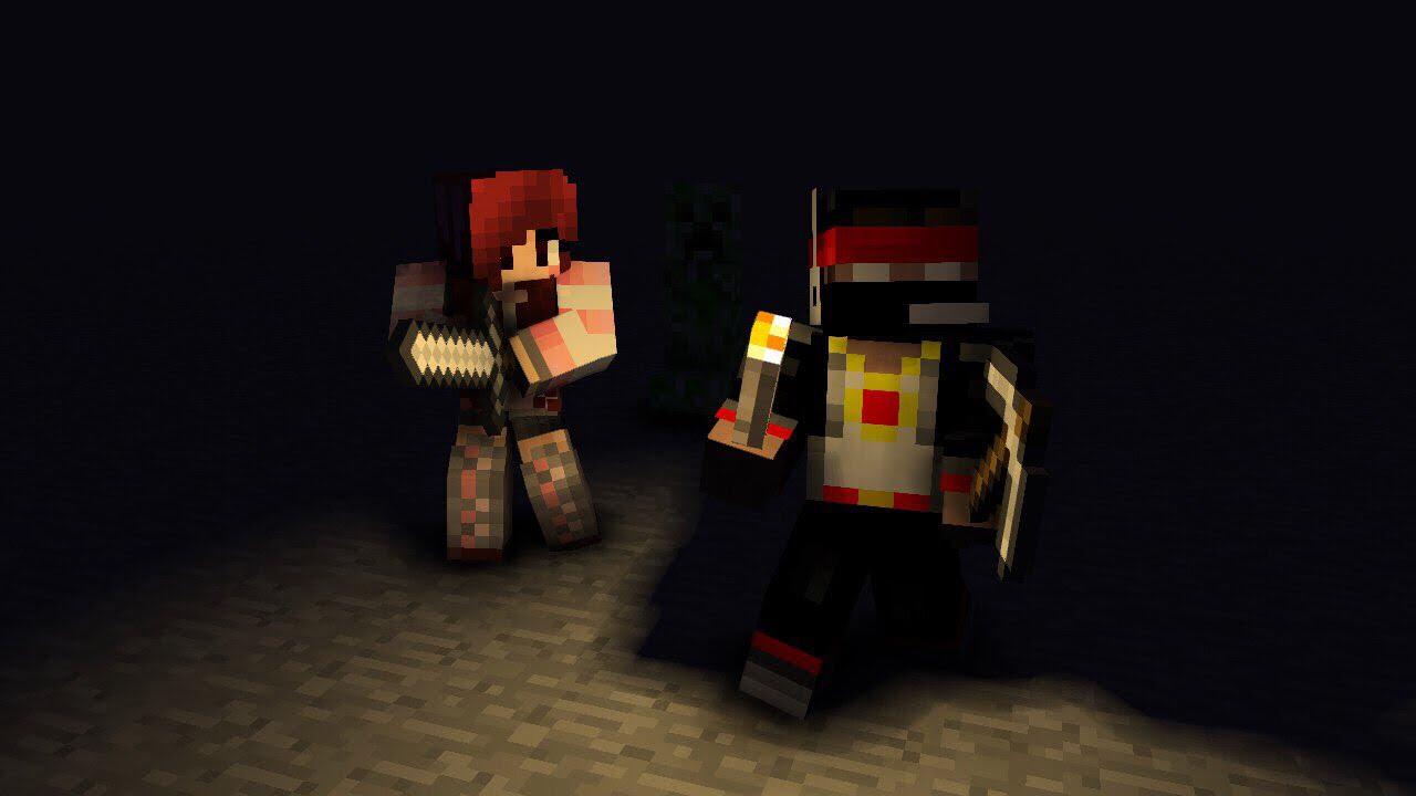 Побывал в пещере и убил всех монстров Вики Кратер [ХардКар] -minecraft