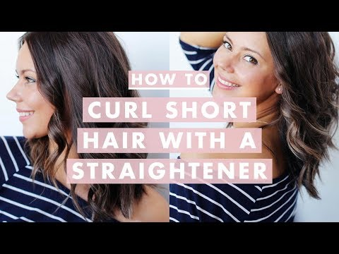 How To Curl Short/Medium Hair With A Straightener