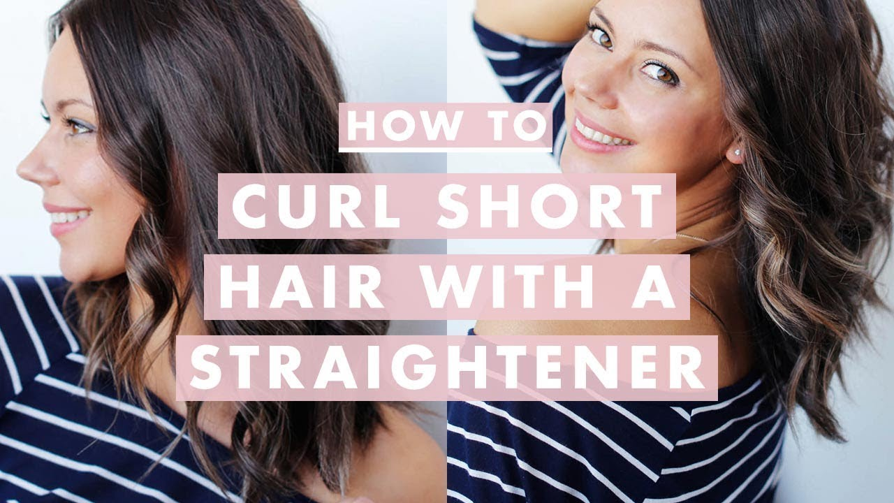 how do you style hair how to curl medium hair with a straightener 6359