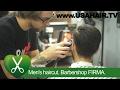 Men's haircut. Barbershop FIRMA. parikmaxer TV USA
