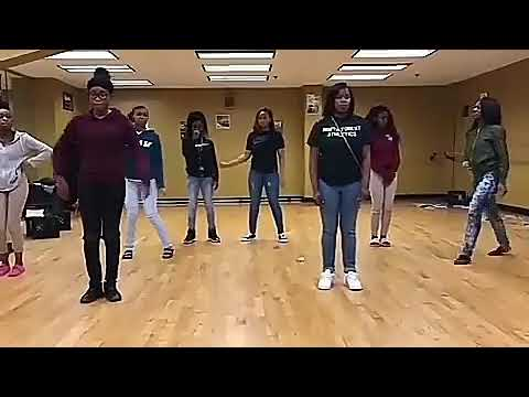 """North forest high school 5th period dance class slippery / mask off Choreography by """"briana woodley"""""""