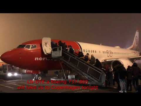 from AMSTERDAM to COPENHAGEN and BACK on NORWEGIAN AIR SHUTTLE in ECONOMY (Dec2016)