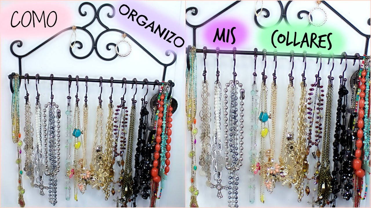 Diy organizador de collares youtube for Como hacer un perchero de pared