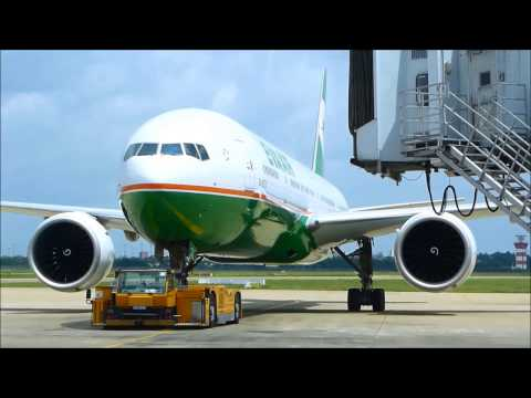 Eva Air Boeing 777-300ER Landing & close up at Ho Chi Minh City Airport
