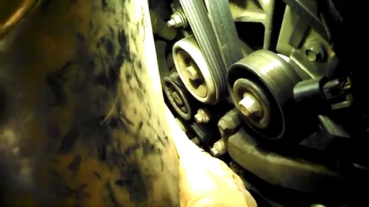 hight resolution of water pump serpentine belt tensioner collapsing 5 3l v6 chevrolet impala 2007 youtube