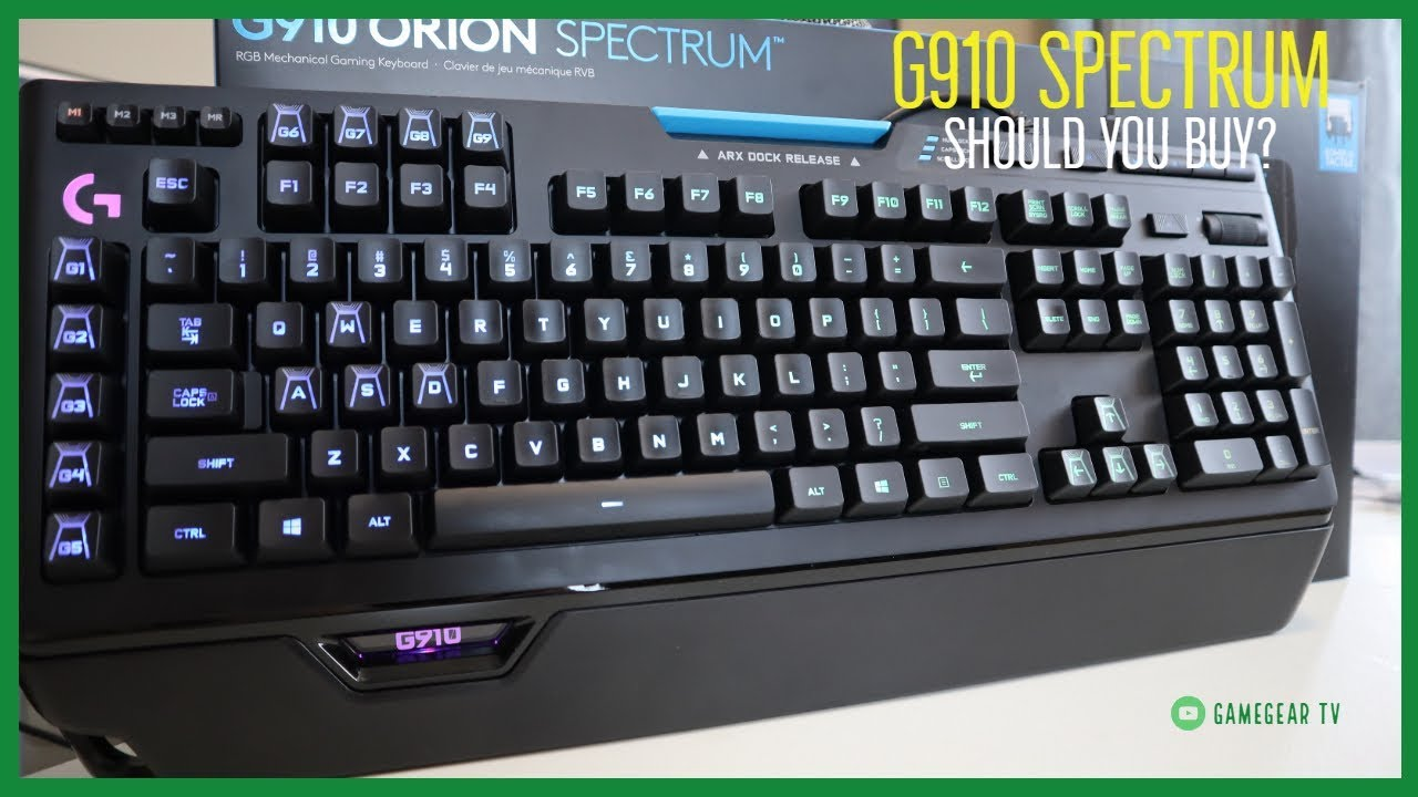 Logitech G910 Orion Spectrum Mechanical Gaming Keyboard Review, How is it?  - GameGear TV RGB Romer G
