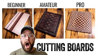 3 LEVELS of Cutting Boards - Beginner to PRO Build