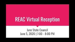REAC Virtual Reception | June 2020 State Council