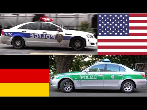 american police cars vs german police cars youtube. Black Bedroom Furniture Sets. Home Design Ideas