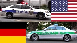 American Police Cars VS German Police Cars
