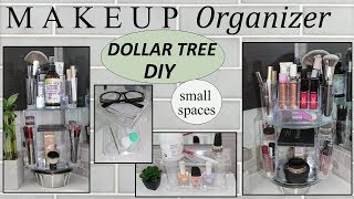 MAKEUP STORAGE IDEAS (2019) | Dollar Tree DIY | ROTATING MAKEUP ORGANIZER | Bathroom Decor