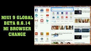 MIUI 9 8.6.14 Global Beta ROM!! Change Mi browser!! Change app volt!! Hindi