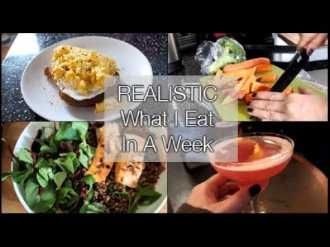 A REALISTIC What I Eat In A Week!   xameliax