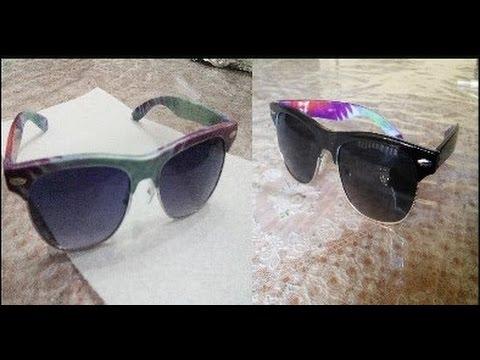 sunglass frames afi1  How to paint sunglass frames