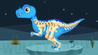 Children Play Dinosaurs Dig Kids Games - Amazing Fun Dinosaur Bones Hunting With Dino Vehicles
