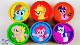 My Little Pony Learning Colors Play Doh Mane 6 MLP Shopkins Surprise Egg and Toy Collector SETC