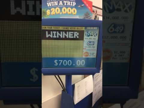 OLG DAILY KENO PICK 4 HUGE WIN $7 Bet Validation - $700 😀