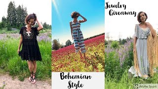 Bohemian Fashion Style LookBook and Designer Jewelry Giveaway!