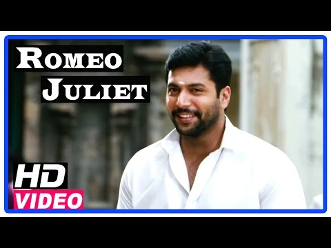 Romeo Juliet Tamil Movie | Scenes | Jayam Ravi meets Hansika at temple