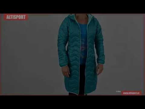 dámský dlouhý kabát alpine pro sierra zelená - YouTube f12692d9c8