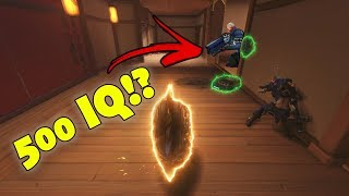 500IQ??... OR THE LUCKIEST PLAY EVER?? - Overwatch Funny Moments & Best Plays #97