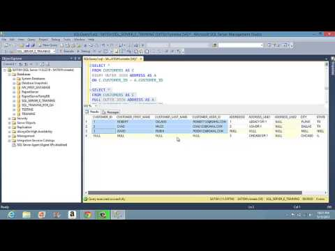 Learn SQL -  Joins  - Inner , Left, Right and full