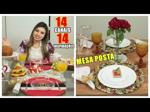 Decoração Mesa Posta de Natal | Café, Almoço e Ceia | Ft. Colaboração 14 Canais | Paloma Soares
