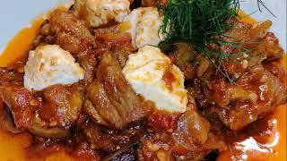 Греческая кухня - Мелидзанес ме креас (баклажаны с мясом)