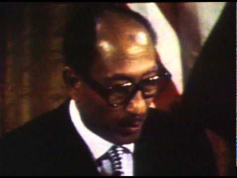 Anwar Sadat At Camp David After Signing The Israeli/Egypt Peace Agreement