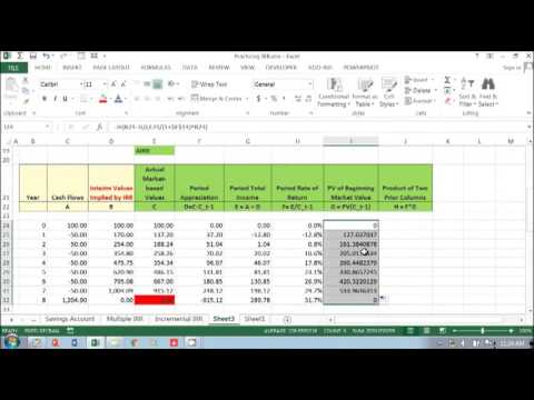 Average Internal Rate of Return in Project Finance or Real Estate Model (1)  Part 3 of 5