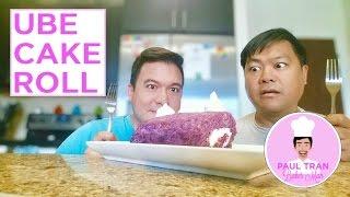 ube cake roll paul tran baker man