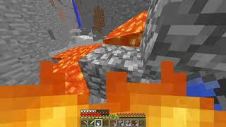 minecraft me falling in lava trying to get diamonds