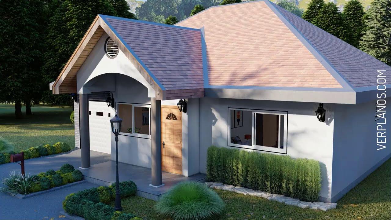 ✅ Plano de Casa ¡GRATIS! 3 Dormitorios 2 Baños ➜ (DWG / PDF)