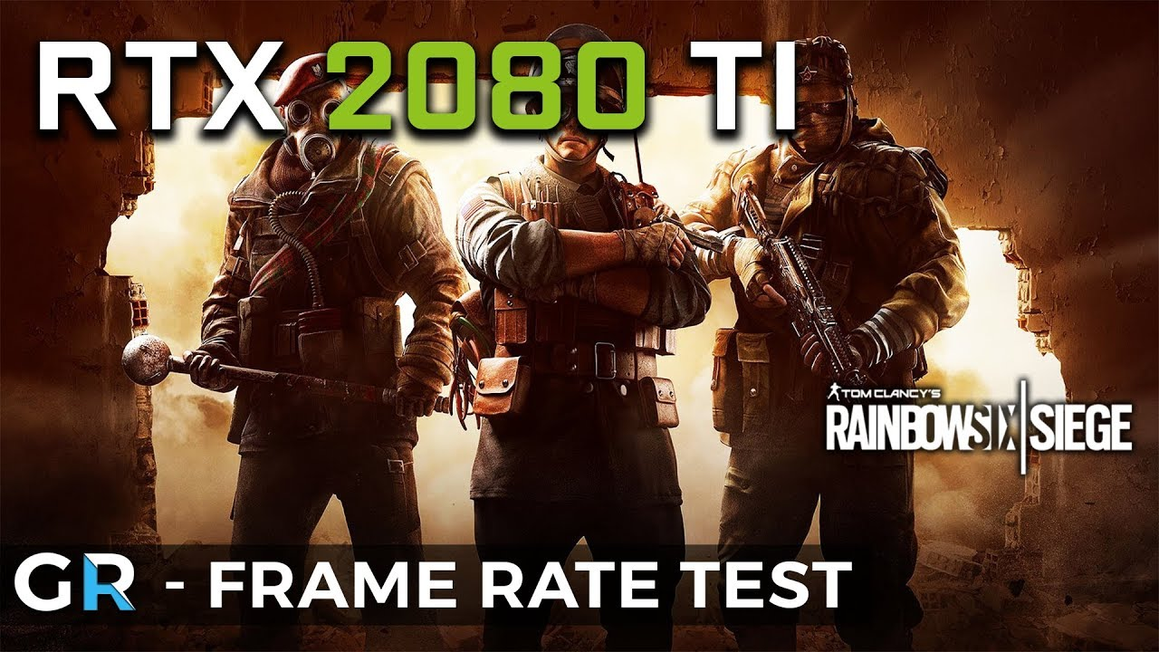 RTX 2080 TI R6 SIEGE | 2160p/1440p/1080p/Ultra Settings | Frame Rate  Benchmark Test