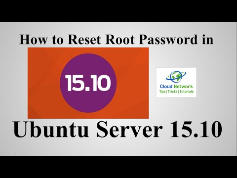 How to Reset Root Password in Ubuntu Server 15 10 ( Wily Werewolf
