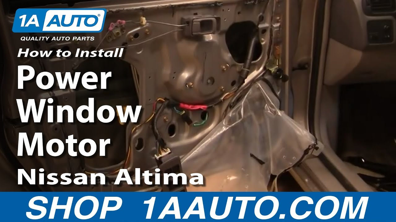 How to install replace power window motor nissan altima 98 for Nissan versa window motor replacement