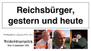 Was ist dran an den Reichsbürgern gestern und heute? Ist Rüdiger Hoffmann ein Reichsbürger?