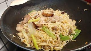 ผัดหมี่ซั่วไกลบ้าน By Ammybe / how to cook fried noodle easy and tasty