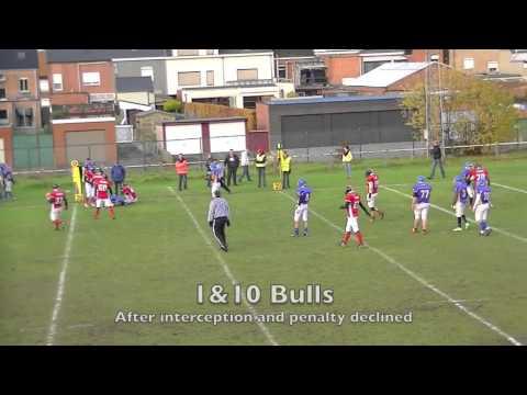 BFL Junior League 2013 Semi-Final Brussels Bulls vs Puurs Titans