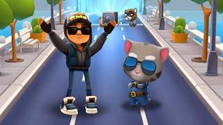 КТО КРУЧЕ? ГОВОРЯЩИЙ КОТ ТОМ - TALKING CAT TOM VS JAKE из игры SUBWAY SURFERS! #341