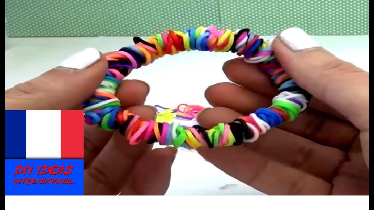 loom bands francais bracelet rond circle loom comment faire un bracelet avec des elastique. Black Bedroom Furniture Sets. Home Design Ideas