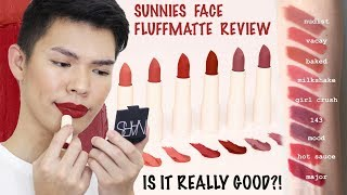 MAGANDA BA TALAGA?!!! SUNNIES FACE FLUFFMATTE REVIEW AND LIP SWATCHES (ALL SHADES) | Kenny Manalad