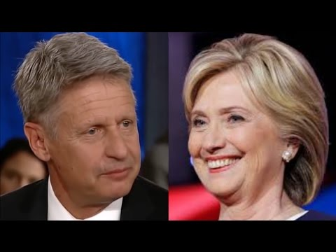 Voting for Gary Johnson Helps Hillary Clinton - Here