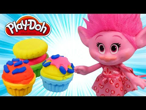 Thumbnail: Play doh food creations. Playdough videos for kids. Cooking play doh cake & trolls toys Branch Poppy
