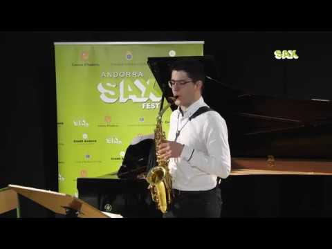 JOSE MANUEL RIBERA GONZALEZ - 1st ROUND - V ANDORRA INTERNATIONAL SAXOPHONE COMPETITION 2018