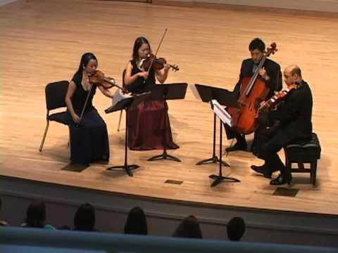 Afiara plays Beethoven String Quartet, Op. 59, No. 1