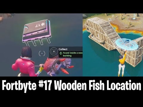 NEW FORTBYTE #17 LOCATION! Fortbyte #17 Found Inside a Wooden Fish Building! All Fortbyte Locations!