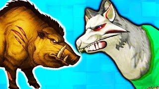 #3 ВОЛЧЬЯ СЕМЬЯ нас все ОБИЖАЮТ настоящая жизнь зверей в диком лесу симулятор ВОЛКА жизнь животных