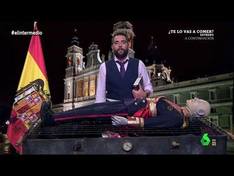 El Intermedio incinera en directo a la momia de Franco: